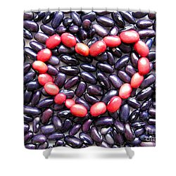 Love Beans #01 Shower Curtain by Ausra Huntington nee Paulauskaite