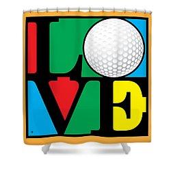Love Golf Shower Curtain by Gary Grayson