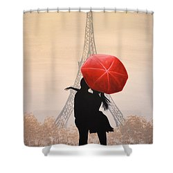 Love In Paris Shower Curtain by Amy Giacomelli