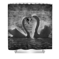 Love Is.. Shower Curtain by Nina Stavlund