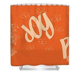 Love Joy Peace Shower Curtain by Georgia Fowler