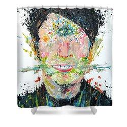 Love Me Do Shower Curtain by Fabrizio Cassetta