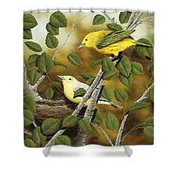 Love Nest Shower Curtain by Rick Bainbridge