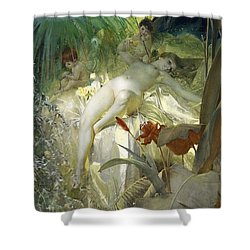 Love Nymph Shower Curtain by Anders Zorn