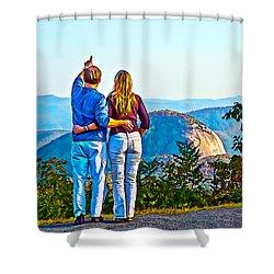 Love On The Rock Shower Curtain by John Haldane