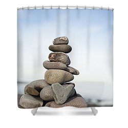 Love On The Rocks Shower Curtain by Anne Gilbert