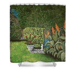 Lovely Green Shower Curtain by Anastasiya Malakhova