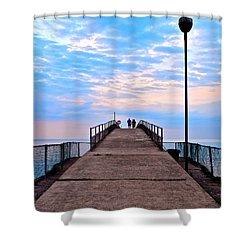 Lovers Lane Shower Curtain by Frozen in Time Fine Art Photography