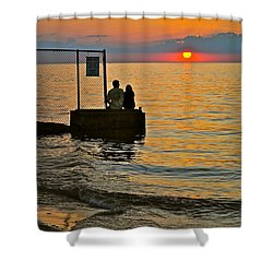 Lovers Overlook Shower Curtain by Frozen in Time Fine Art Photography