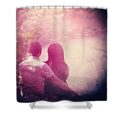 Lovestrong Shower Curtain by Trish Mistric