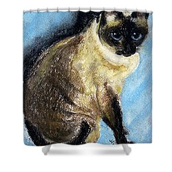 Lovey Shower Curtain by Jamie Frier