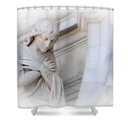 Loving Angel Shower Curtain by Kathleen Struckle