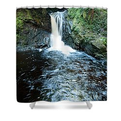 Lower Fall Puck's Glen Shower Curtain by Gary Eason