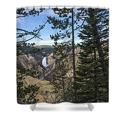 Lower Yellowstone Canyon Falls - Yellowstone National Park Wyoming Shower Curtain by Brian Harig