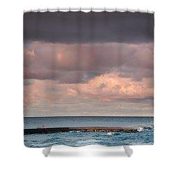 Ludington Shower Curtain by Sebastian Musial