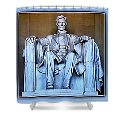 Luminous President Lincoln Shower Curtain by Danielle  Parent