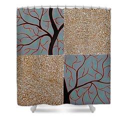 Luminous Tree Of Barsoom Shower Curtain by Sumit Mehndiratta