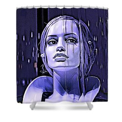 Luna Shower Curtain by Chuck Staley