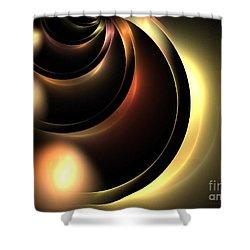 Lunar Shower Curtain by Kim Sy Ok