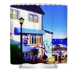 Lunenburg Vista View Shower Curtain by Patricia L Davidson