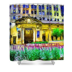 Lyric Opera House Of Chicago Shower Curtain by Ely Arsha