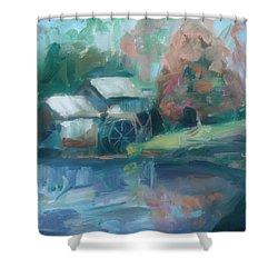 Mabry Mill Shower Curtain by Donna Tuten