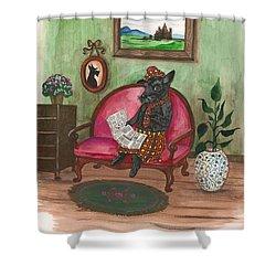 Macduff After Work Shower Curtain by Margaryta Yermolayeva