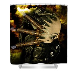 Machine Thoughts Shower Curtain by Nathan Wright