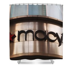 Macys Signage Shower Curtain by Thomas Woolworth