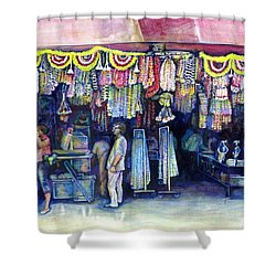 Mad Man Of Market And Main Singapore Shower Curtain by Gaye Elise Beda
