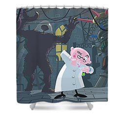 Mad Professor Experiment Shower Curtain by Martin Davey