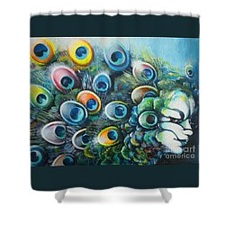 Madam Peacock Shower Curtain by Alessandra Andrisani