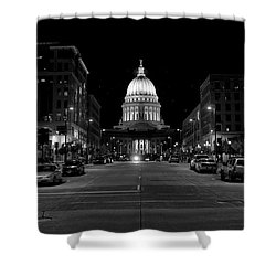 Madison Wi Capitol Dome Shower Curtain by Trever Miller