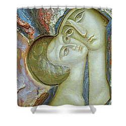 Madonna And Child Shower Curtain by Alek Rapoport