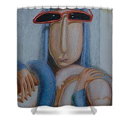 Madonna In Sunglasses Shower Curtain by Nancy Mauerman