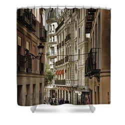 Madrid Streets Shower Curtain by Joan Carroll