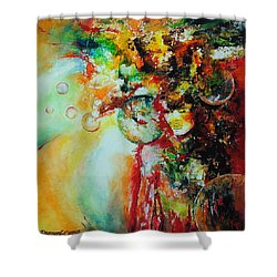 Maelstrom Shower Curtain by Francoise Dugourd-Caput