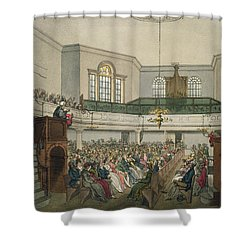 Magdalen Chapel Shower Curtain by Pugin And Rowlandson