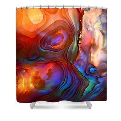 Magic Shell Shower Curtain by Rona Black