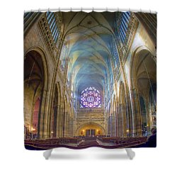 Magical Light Shower Curtain by Joan Carroll