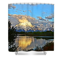 Magnificent Mountain Shower Curtain by Dan Sproul