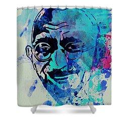 Mahatma Gandhi Watercolor Shower Curtain by Naxart Studio