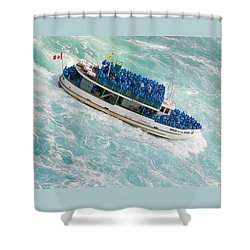 Maid Of The Mist At Niagara Falls Shower Curtain by Ben and Raisa Gertsberg