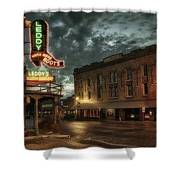 Main And Exchange Shower Curtain by Joan Carroll