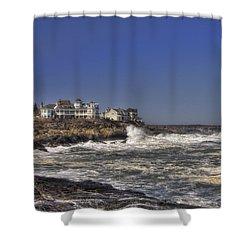 Main Coastline Shower Curtain by Joann Vitali