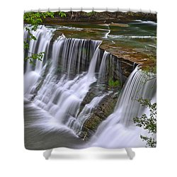 Majestic Falls Shower Curtain by Frozen in Time Fine Art Photography