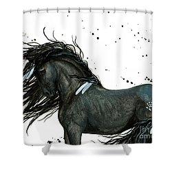 Majestic Friesian 112 Shower Curtain by AmyLyn Bihrle