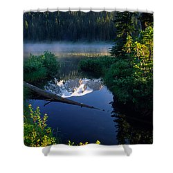 Majestic Reflection Shower Curtain by Inge Johnsson