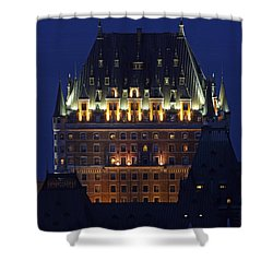 Majesty Of Chateau Frontenac In Quebec City Shower Curtain by Juergen Roth