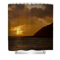 Makapuu Point Lighthouse Sunrise Shower Curtain by Brian Harig